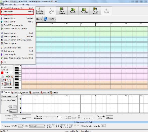 MIDI音乐合成器(BaWaMI)截图1