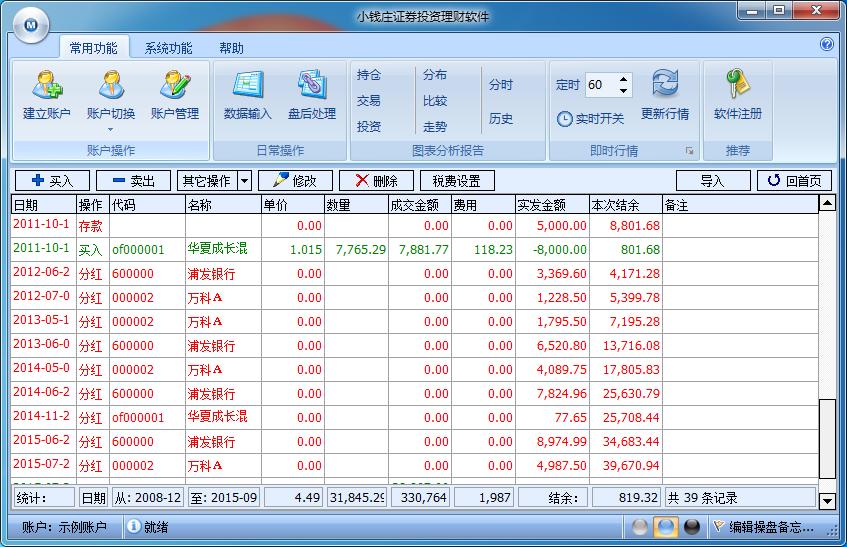 小钱庄证券投资理财软件截图1