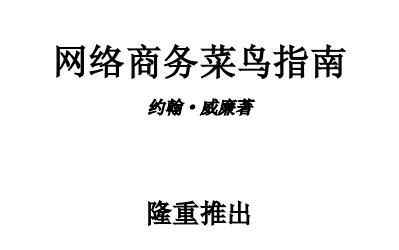 网络商务菜鸟指南电子版pdf