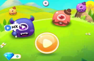 滑动怪物消除游戏
