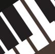 黑白琴键背景音乐教育ppt课件