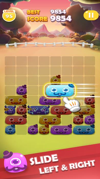 滑动怪物消除游戏截图1
