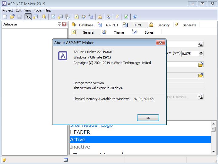 ASP.NET Maker2019截图1