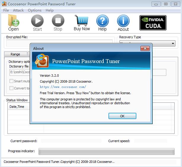 PowerPoint Password Tuner(PPT密码恢复软件)截图1
