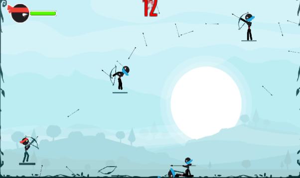 旋转的弓箭游戏截图0
