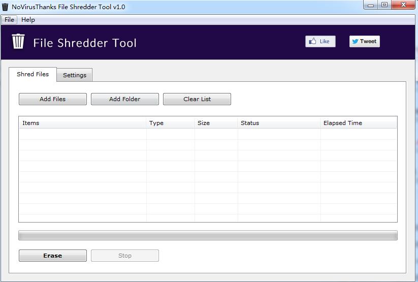 文件粉碎工具(File Shredder Tool)截图0