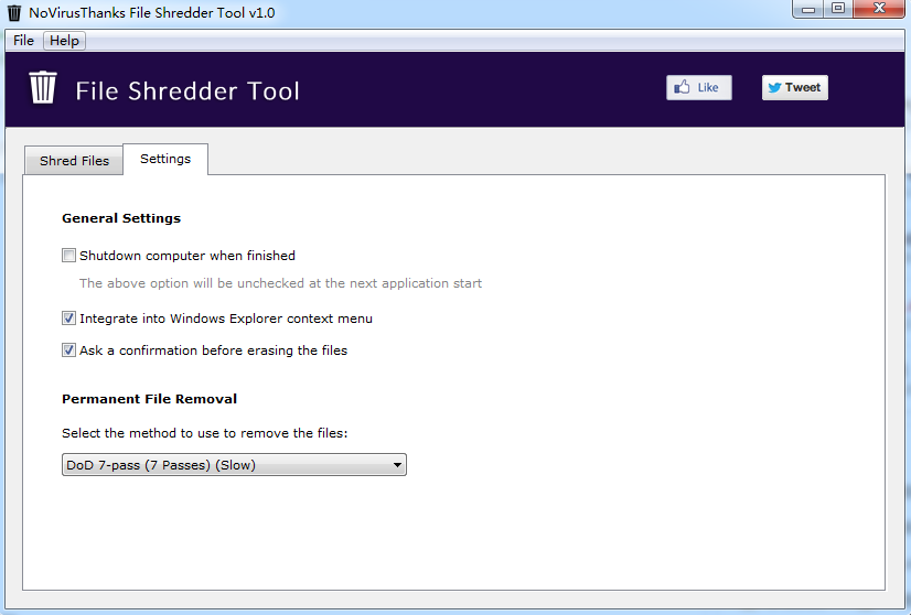 文件粉碎工具(File Shredder Tool)截图1
