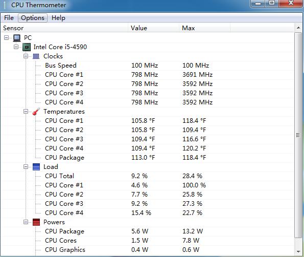 CPU温度监控(CPU Thermometer)截图0