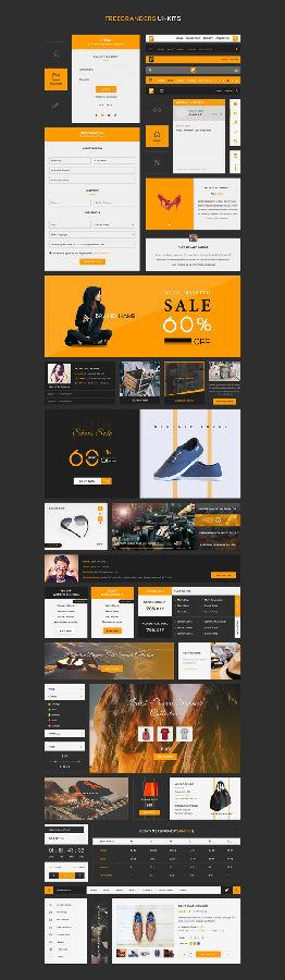 电商网站GUI套件设计元素