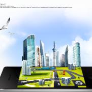 智能手机道路建筑PSD素材