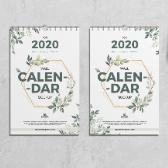 2020年挂历封面设计psd素材