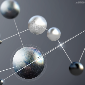 数码分子展示PSD素材
