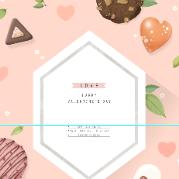 卡通甜品食物背景PSD素材