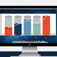 办公背景数据分析报告ppt模板