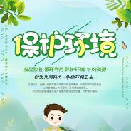 保护环境垃圾分类宣传海报PSD素材免费下载