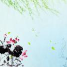 中国风水墨背景设计PSD素材