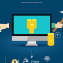 创意数据安全科技概念海报PSD素材