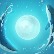 梦幻鲸鱼与男孩PSD素材