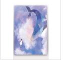 唯美鲸鱼手绘手机壁纸星空插图插画PSD设计素材大全14款高清无水印