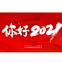 2021商务年会新年总结年终总结汇报PPT模板免费版25页红色版
