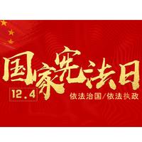 红色党建国家宪法日宣传教育培训课件PPT模板免费版20页高清版