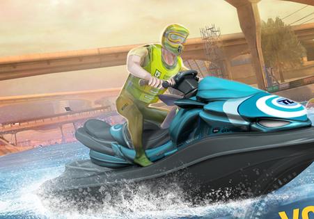 顶尖快艇竞速3D手游无限金币版