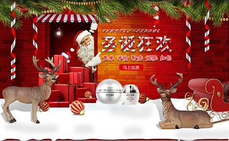 圣诞狂欢化妆品电商海报psd高清版