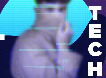 科技社交媒体广告模板PSD