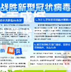 战胜新型冠状病毒肺炎宣传PSD素材