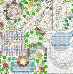 某广场景观绿化分析图CAD图纸