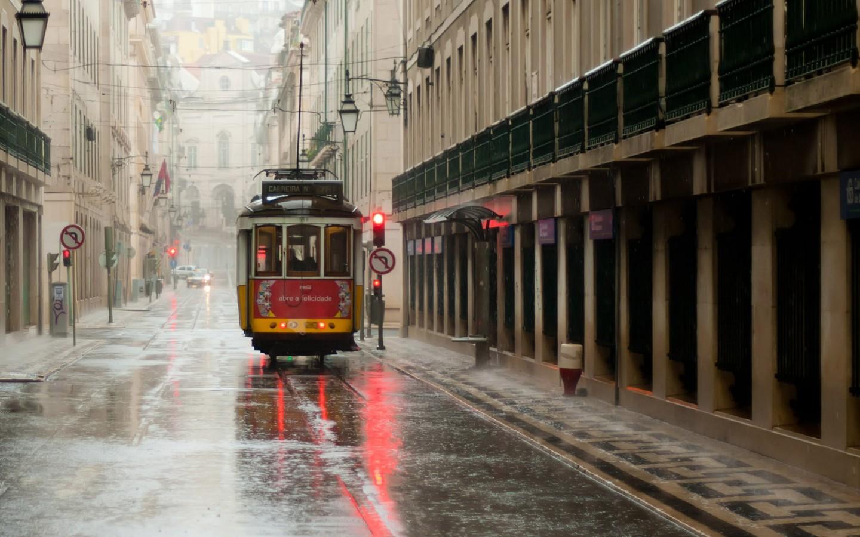 唯美欧美街头街景PPT背景图片截图1