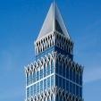 蓝色商务大厦大楼写字楼PPT背景图片