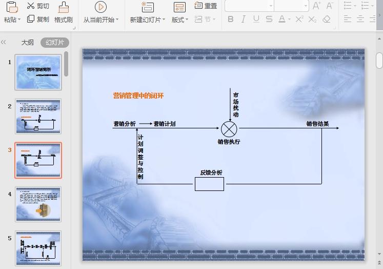 蓝色背景移动互联网ppt模板截图1