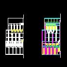 建筑系馆设计SU模型含CAD图