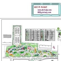 广场景观设计CAD图纸