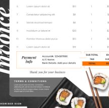 寿司店菜单设计psd素材