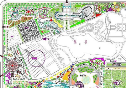 公园总平面图CAD图纸
