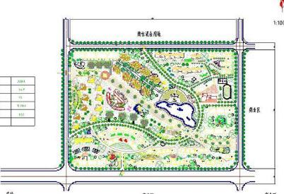 居住小区景观规划方案整套CAD施工图纸