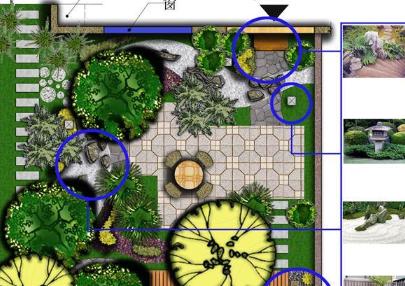别墅庭院绿地CAD图纸