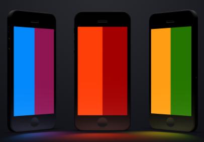 iPhone手机模型PSD素材