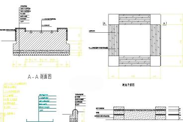 树池平立面详图CAD图纸