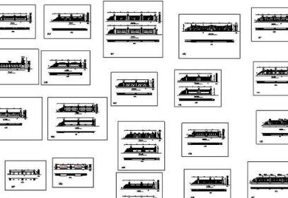 38套古典石材栏杆集锦CAD图纸