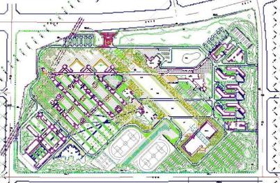 某大学校园景观设计总平面图CAD图纸