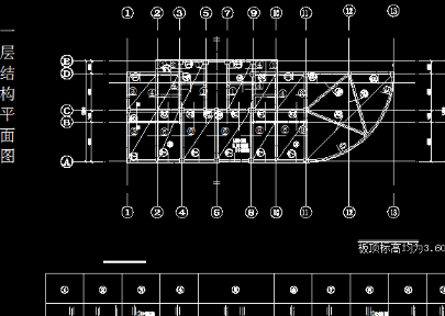钢筋结构条形基础cad图纸