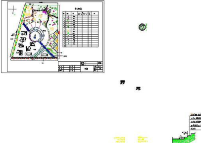 广场游园规划设计图CAD图纸
