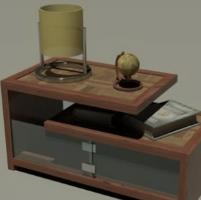 创意收纳柜子3D模型