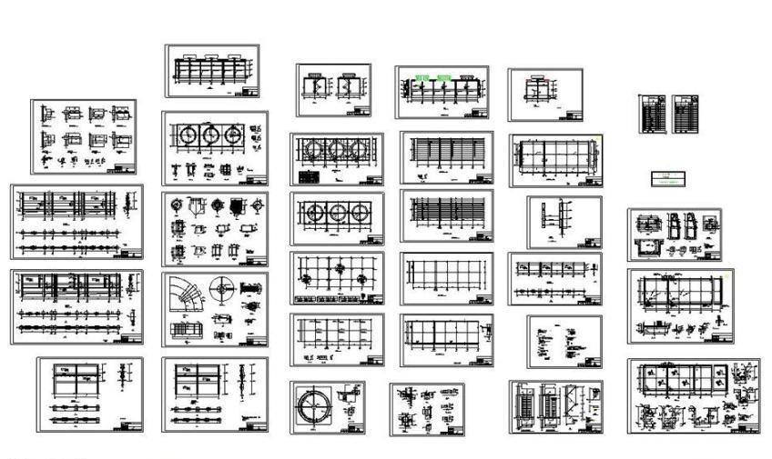 最全的水池施工图CAD图纸截图0