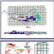 雕塑水池施工详图CAD图纸