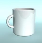 白色马克杯3D模型
