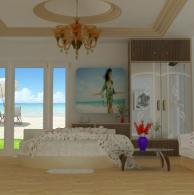 东南亚3d风格卧室模型